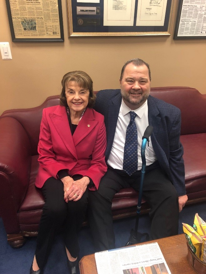 Letter carriers with Sen. Dianne Feinstein (D-CA)