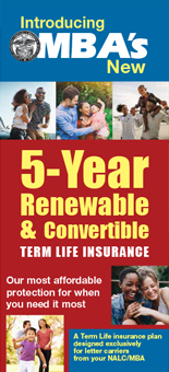 MBA 5 Year Renewable and Convertible Term Life