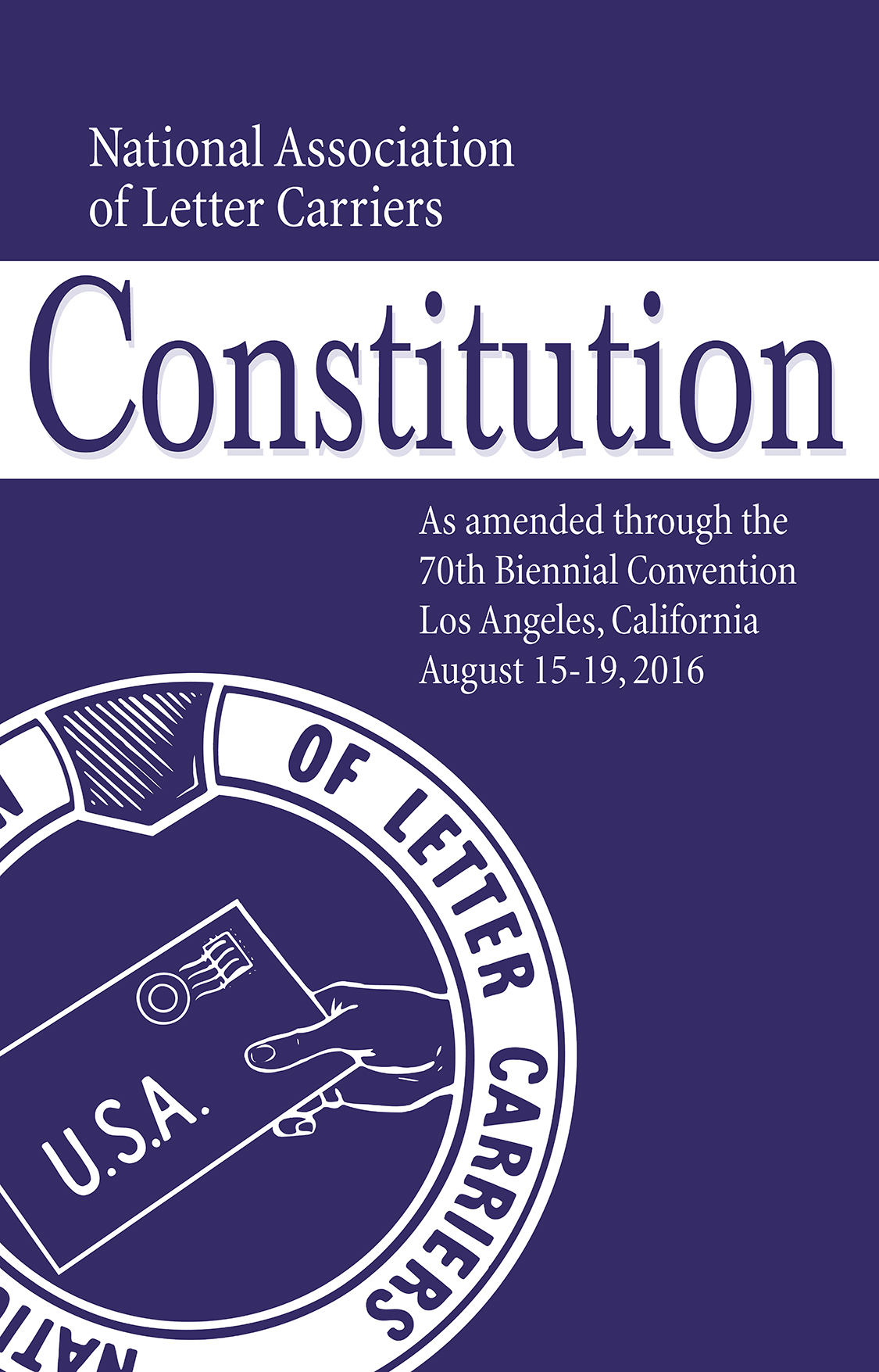 NALC Constitution cover